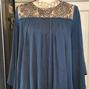 !Sale! Deletta Anthropologie Beaded Top